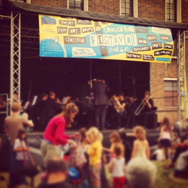 picture of the big stage at Crouch End Festival